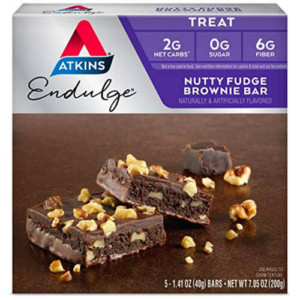 Atkins Endulge, Nutty Fudge Brownie Bars