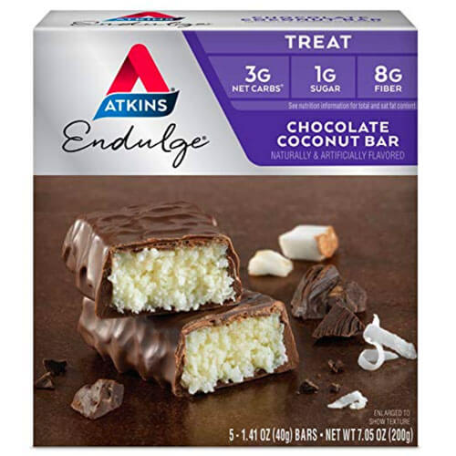 low carb chocolate coconut bar