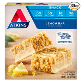 Atkins Gluten Free Lemon Snack Bar