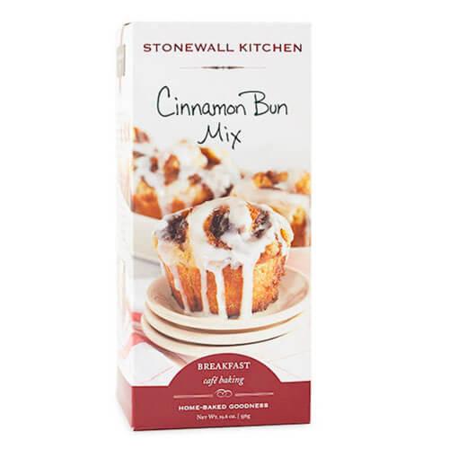 Box of Stonewall Kitche's cinnamon bun mix