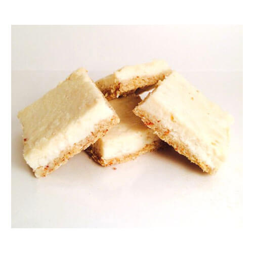 4 low carb lemon squares made by ZeroGuiltSweets
