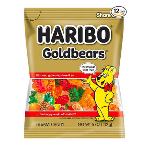 5 oz bag of Haribo Gold-Bear Gummi Candy