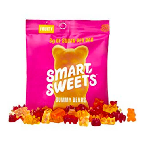 1.8 oz bag of SmartSweets Low Carb Fruity Flavored Gummy Bears