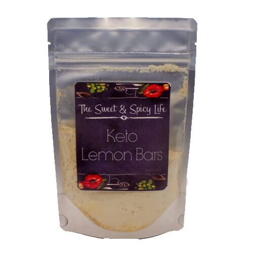 package of keto lemon bar baking mix