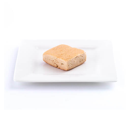 low carb lemon square on a plate