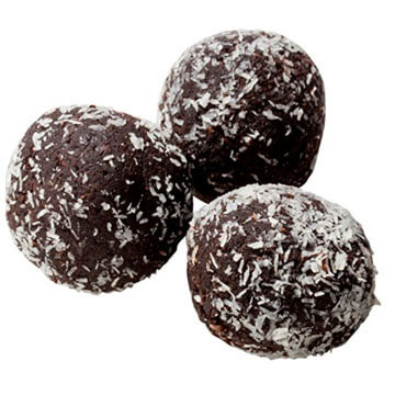 Three Carbolicious low carb rum balls