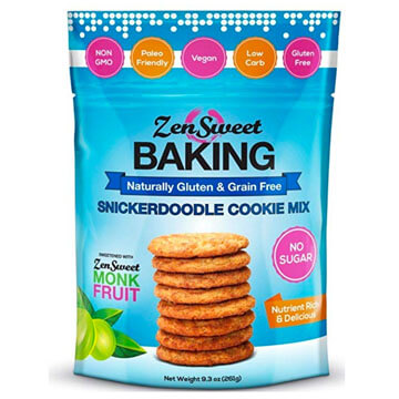 Pouch of ZenSwwet Baking Snickerdoodle Cookie Mix