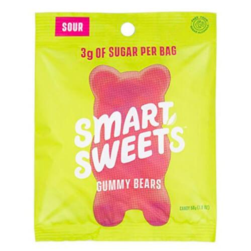 1.8 oz bag SmartSweets Low Sugar Sour Flavored Gummy Bears