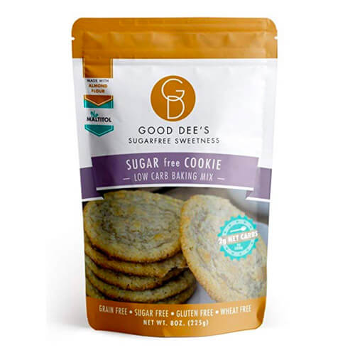 8 oz pouch of Good Dee's Sugar Free Cookie Mix