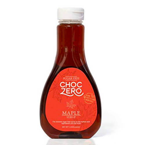 12 oz bottle of ChocZero's Sugar Free, Low Carb Maple Syrup