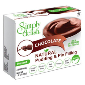 Simply Delish Natural Chocolate Pudding