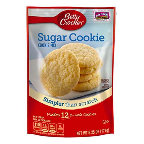 6.25 oz pouch of Betty Crocker Sugar Cookie Baking Mix