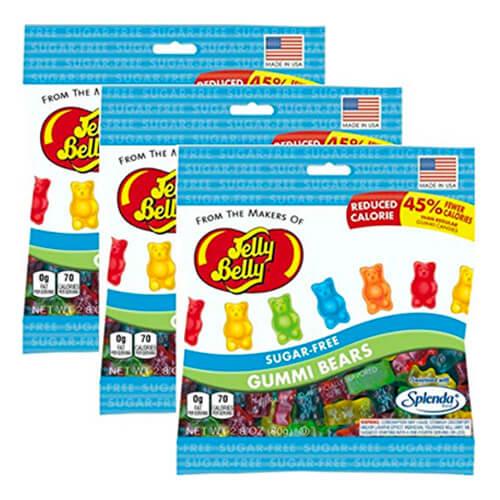 2.8 oz bags of Jelly Belly Sugar-Free Gummi Bears