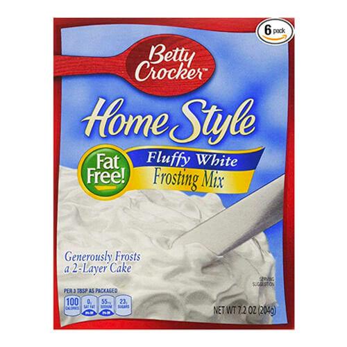 7.2 oz box of Betty Crocker Homestyle Fluffy White Frosting Mix